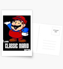 I Liked Classic Mario Better Postcards