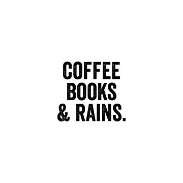 Coffee books and rains by bainermarket