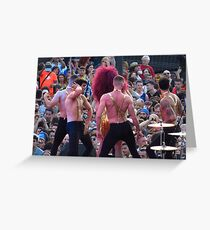 Male Dancers, Gay Pride, Barcelona Greeting Card