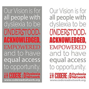 Our Vision - Dyslexia Awareness by CodeRead