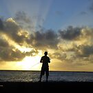 Dawn Fisherman in Kauai by Vaengi