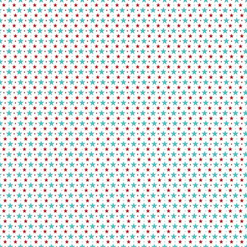 Fresh and airy red-green-white Star pattern by ShineEyePirate