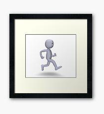 3d character running Framed Print