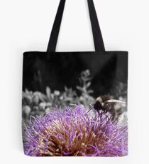 Busy Little Thistle Bee Tote Bag