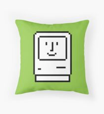 Happy Mac – Retro Computer Icon Throw Pillow