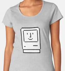 Happy Mac – Retro Computer Icon Women's Premium T-Shirt