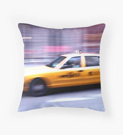 NYC Cab Throw Pillow