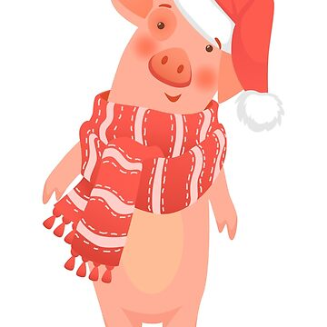pig in scarf and hat by OllegNik