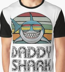 Daddy Shark Retro Graphic T-Shirt