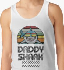 Daddy Shark Retro Tank Top