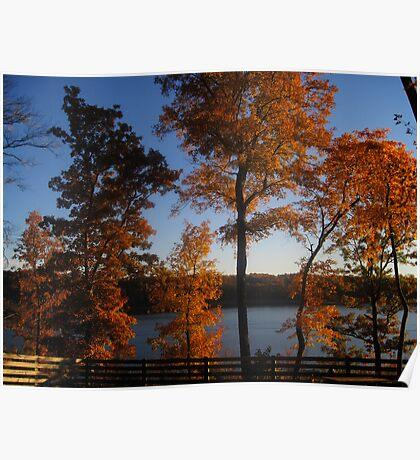 October at the Lake II Poster