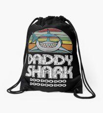 Daddy Shark Retro - For Dark Print Drawstring Bag
