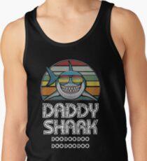 Camiseta de tirantes Papá Tiburón Retro - Para Estampado Oscuro