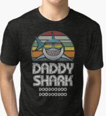 Daddy Shark Retro - Für dunklen Druck Vintage T-Shirt