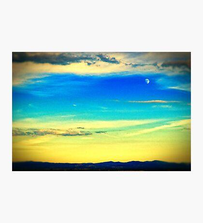Moon at dusk Photographic Print