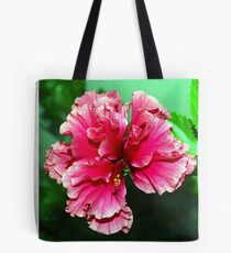 Deep pink double hibiscus Tote Bag