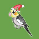 Christmas cockatiel by Bwiselizzy