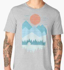 Cabin In The Snow Men's Premium T-Shirt