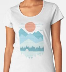 Cabin In The Snow Women's Premium T-Shirt