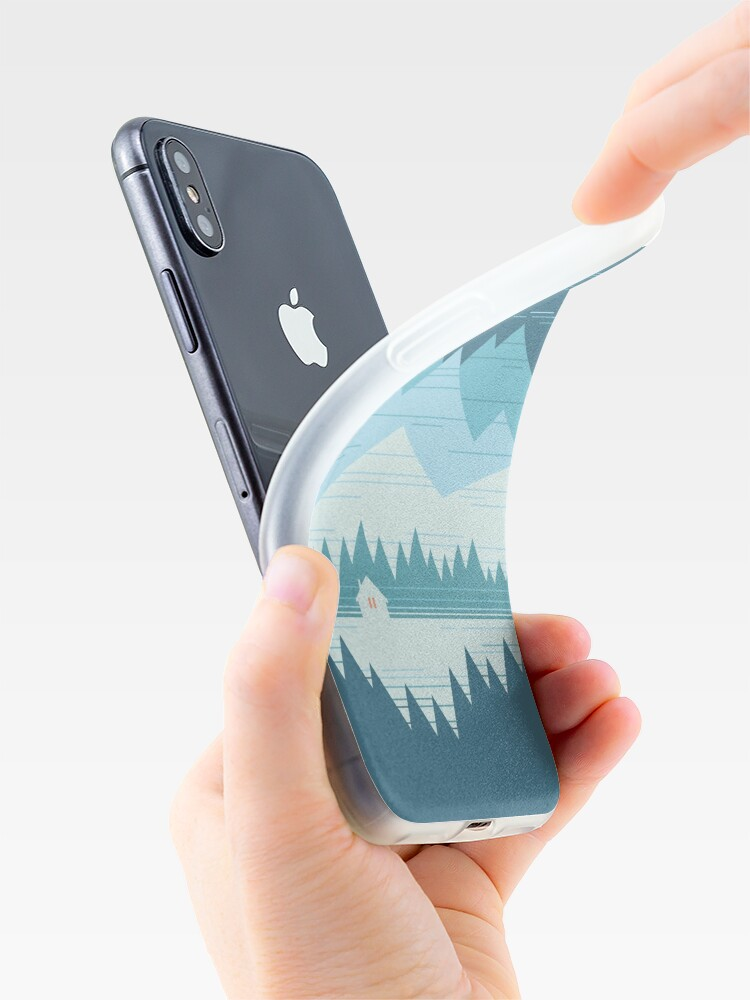 Alternate view of Cabin In The Snow iPhone Case & Cover