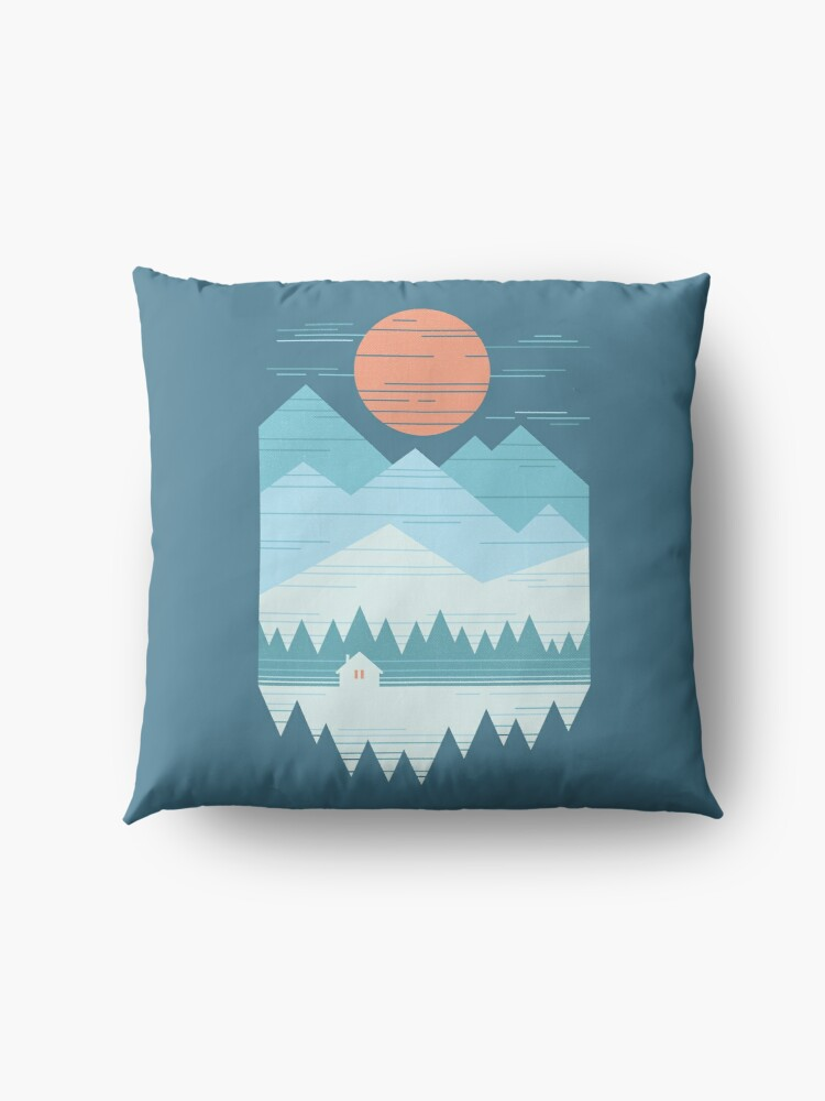 Alternate view of Cabin In The Snow Floor Pillow