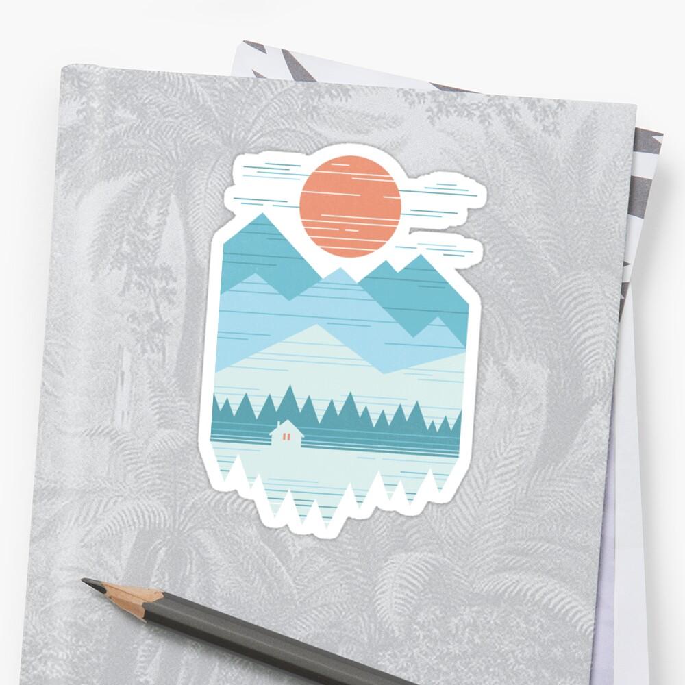 Cabin In The Snow Sticker