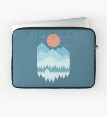 Kabine im Schnee Laptoptasche