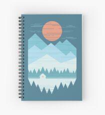 Cuaderno de espiral Cabaña en la nieve