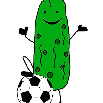 Funny Pickle Playing Soccer Cartoon by naturesfancy