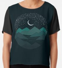 Between The Mountains And The Stars Chiffon Top