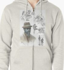 Z Nation Alvin Murphy Fan Art  Zipped Hoodie