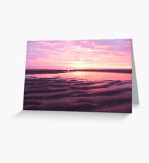 sunrise low tide Greeting Card
