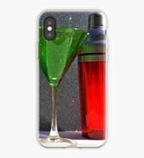 Christmas:  Holiday Martinis Shaken but Not Stirred iPhone Case