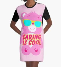 It's Cool To Care (Bear) Graphic T-Shirt Dress