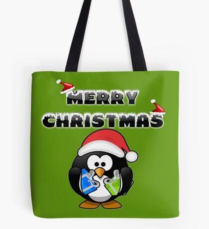 Merry Christmas Pinguin Tasche