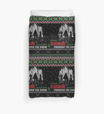 The Walking Dead - Michonne Ugly Christmas Sweater Duvet Cover