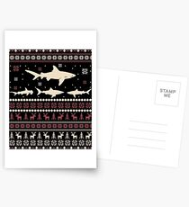 Shark Ugly Christmas Sweater Postcards