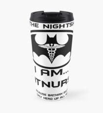 I'm The Nightshift. I Am BatNurse T-Shirt Travel Mug