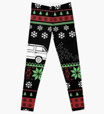 Vanagon Ugly Christmas Sweater Leggings