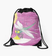 D is for Dragonfly Drawstring Bag