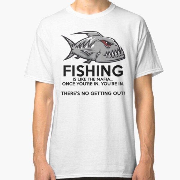 Men/'s Fishing T Shirts Fish Love Fisherman Pike Master Baiter Jaws Camping