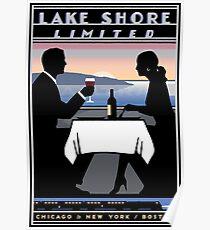 AMTRAK: Vintage Lake Shore Limited Werbedruck Poster