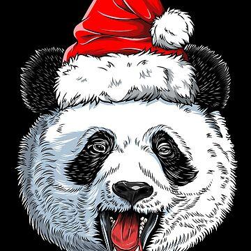 Panda Santa T shirt Christmas Kids Boys Girls Xmas Gifts Tee by LiqueGifts