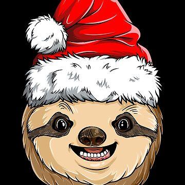 Sloth Santa T shirt Christmas Kids Boys Girls Xmas Gifts Tee by LiqueGifts
