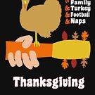 Thanksgivingstock - Woodstock Style Poster Design for Thanksgiving Funny Thanksgiving Turkey and Guitar Holiday Autumn Design by gallerytees
