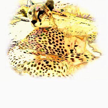 cheetah and cub t-shirt by ralphyboy
