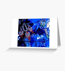 ice in blue Greeting Card