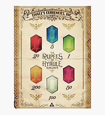 Legend of Zelda The Rupees Geek Line Artly Photographic Print