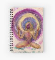 Abstract Enlightened Female Spiral Notebook