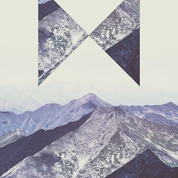 Geometric vintage mountains  by adelemawhinney